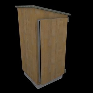 3d model outhouse toilet wc