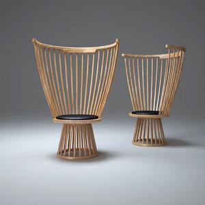 3d fan-chair model