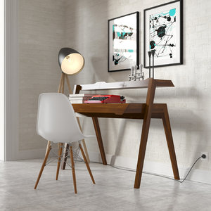 primary desk 3d model
