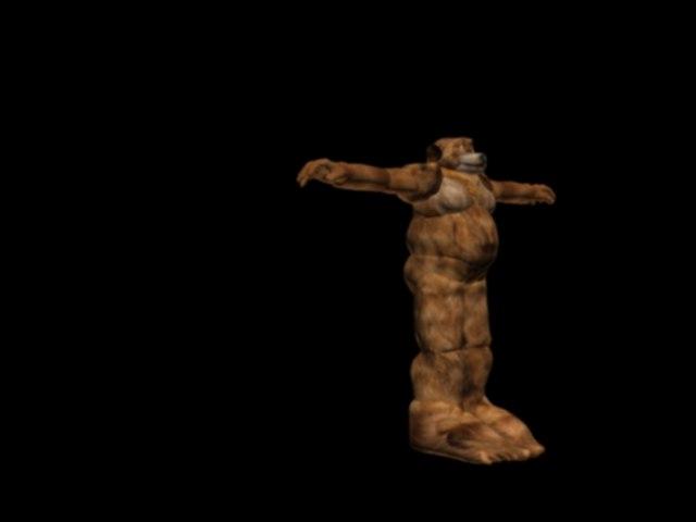 man bear 3d max