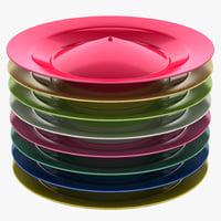 3d spinning plates set model