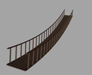 3d model rope bridge