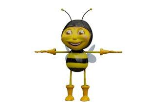 3d model bee