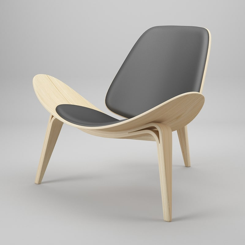 3ds max chair hans j wegner for Chair design 3ds max