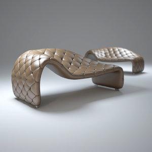 3d model chaise-loveseat-sofa