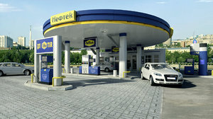 3d obj gas station