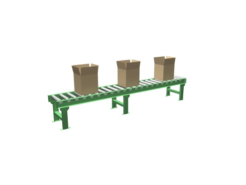 green conveyor 3d model