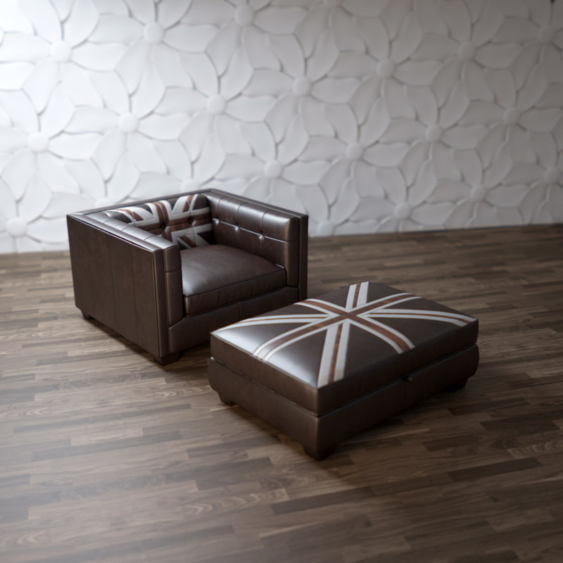 3d model edward-jack-armchair