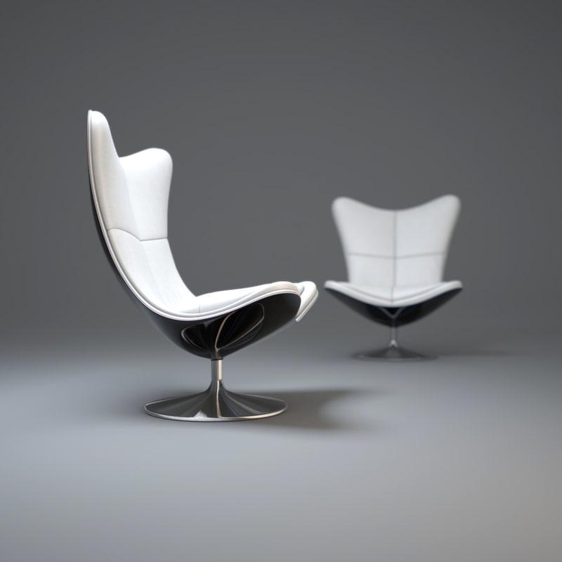3ds max glove-armchair