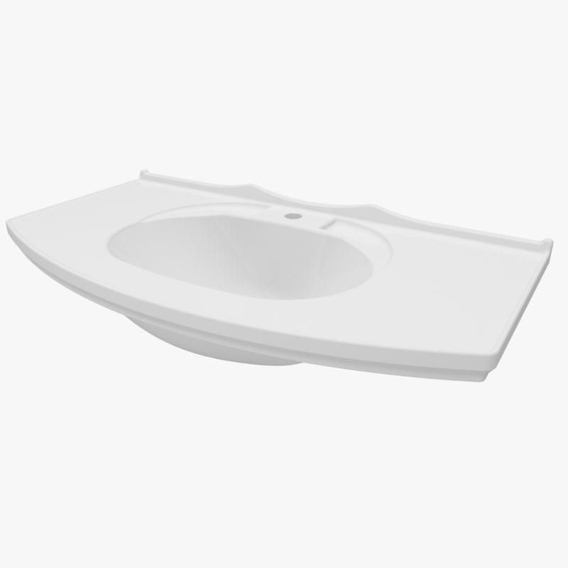 washbasin 895 370 3d model