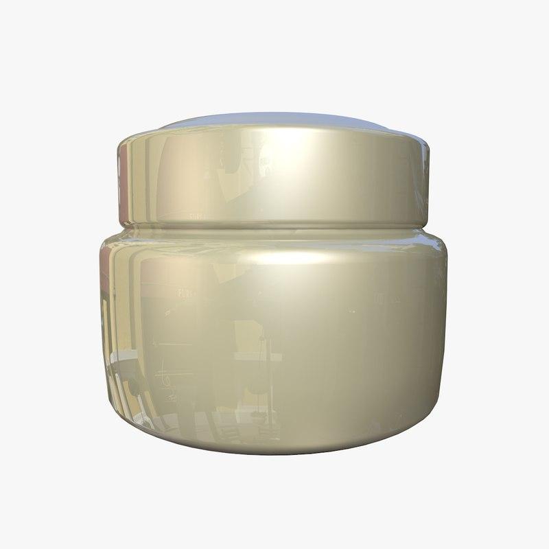jar cream 3d dxf
