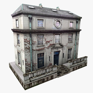 realistic european building 3d 3ds