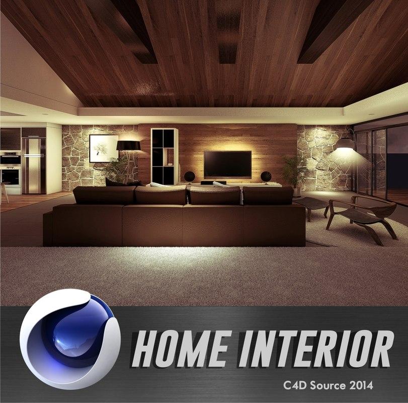 c4d house interior