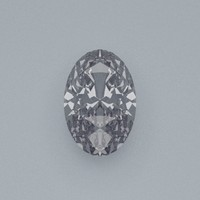oval cut gemstone diamond 3d model