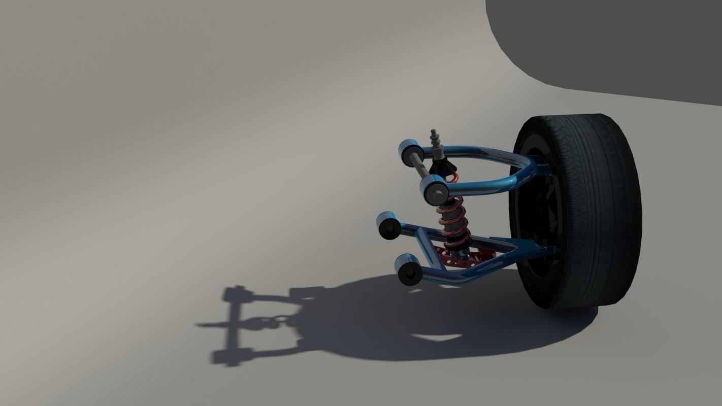 3d model car suspension
