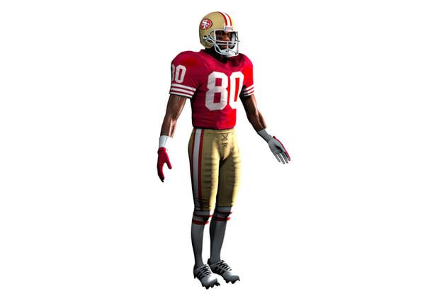 football player 3d c4d