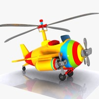 cartoon helicopter aircraft 3d max