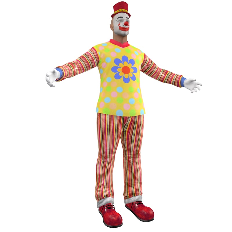 clown hat 3d max