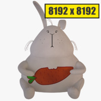 Soft bunny 8192 render