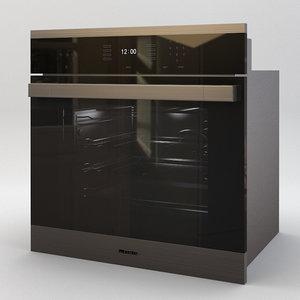 miele oven 3d model