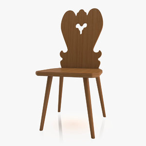 3ds max old chair