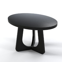 Christian Liaigre Oval Side coffe table