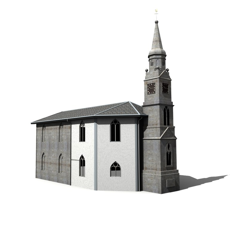 3ds max eaglesham church