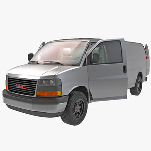 3d model of gmc savana cargo van