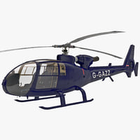 gazelle helicopter 3d model