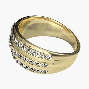 gold ring 3 3d model
