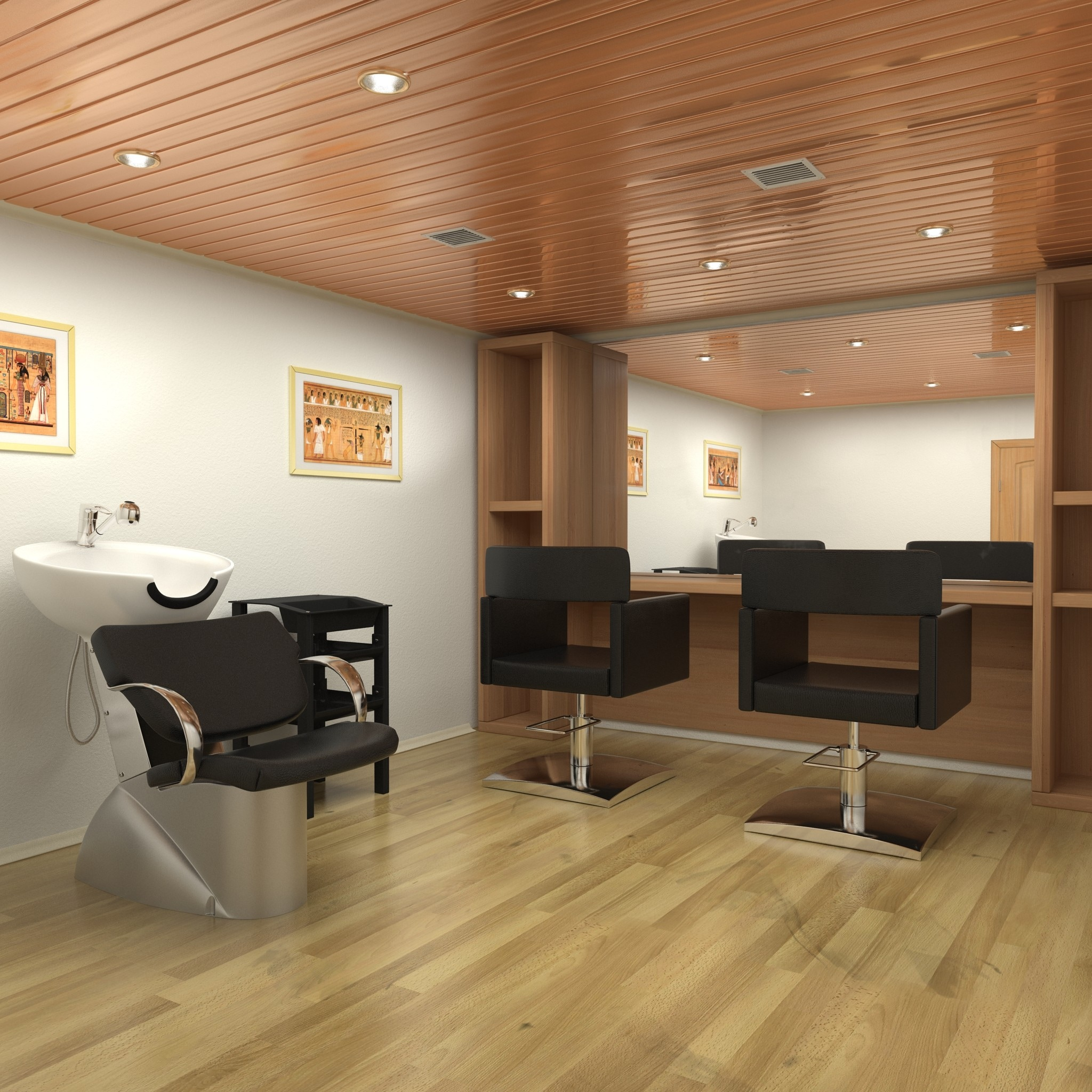 3d hair salon for 3d salon design software