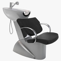 hair washing chair design 3d 3ds