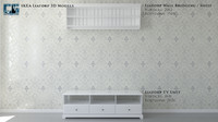 Ikea Liatorp TV Unit & Wall Bridging Shelf