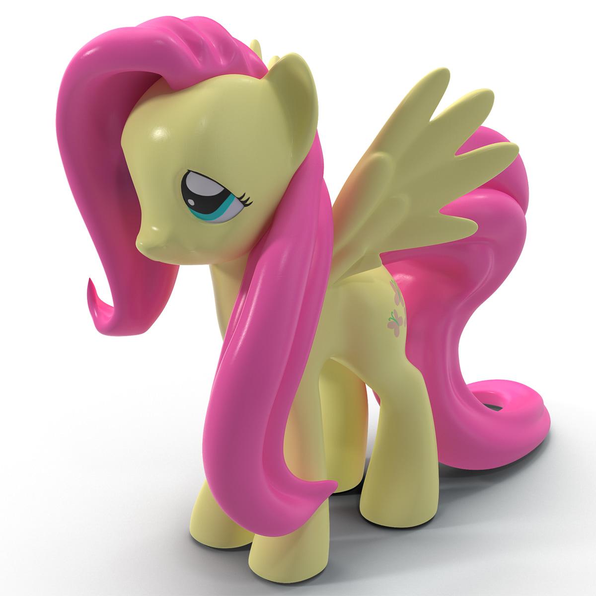 little pony fluttershy toy 3d c4d