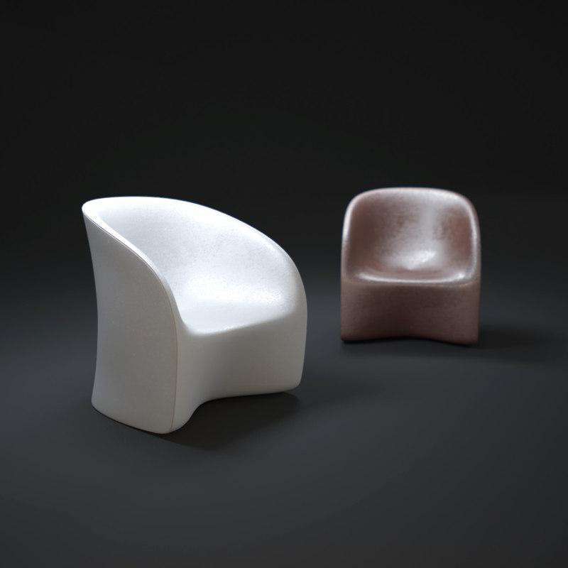 nuvola-armchair 3d max