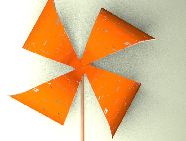 pinwheel 3d fbx
