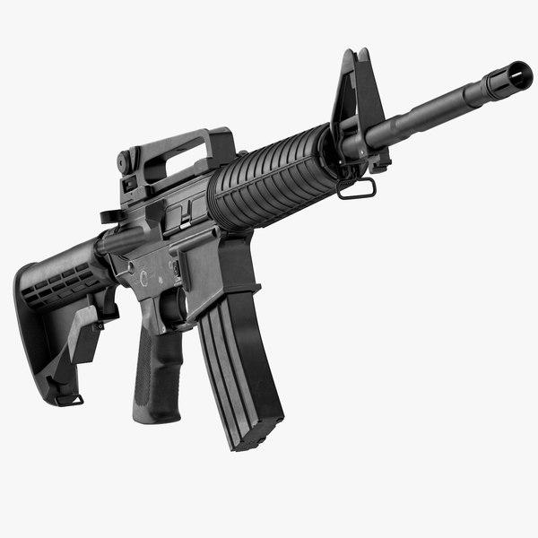 3d max colt carbine m4a1