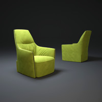 3d santa-monica-lounge-armchair model