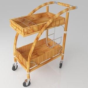 trolley serving cart 3d model