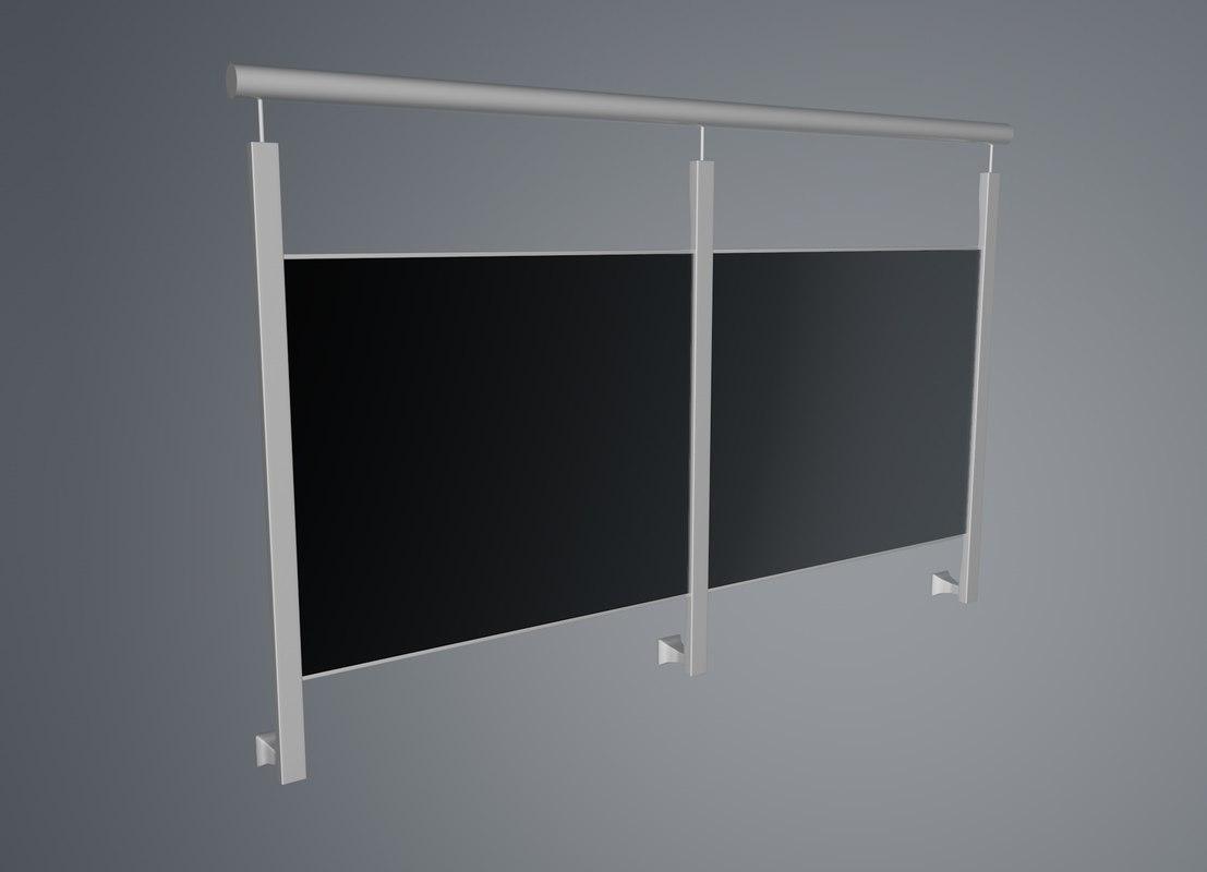 railing balcony 3d model