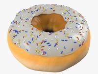 3d glazed donut