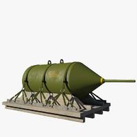 daisy cutter bomb blu-82b 3d max
