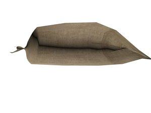 sandbag military 3d model