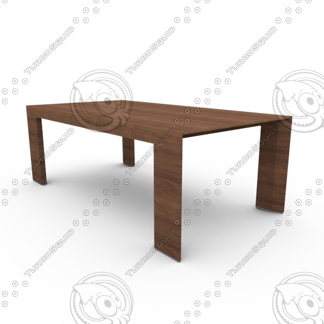 3d interior design wooden table