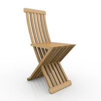 3d model wooden chair