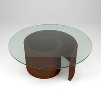 spiral wooden table 3d 3ds