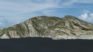 island montecristo 3d model