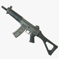 3d model 552 commando rifle