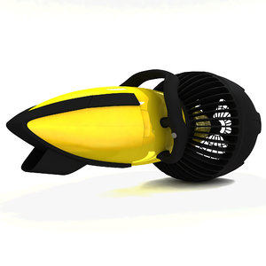 sea scooter 3d model