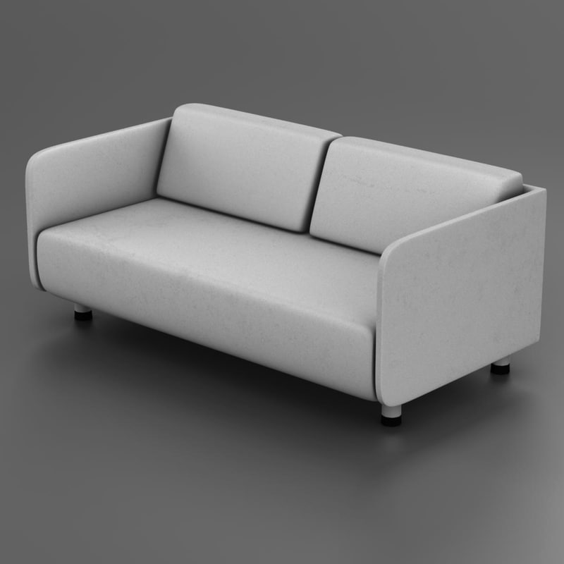 3d couch white